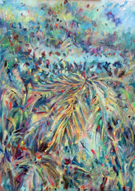 2.Butti,Linda,Submission #2- Jungle Color and Light 2-,oil, 49- x 34-