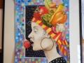 SandraForrest_Ms. Gaspacho_ Watercolorcollage_16x20_8_3_17
